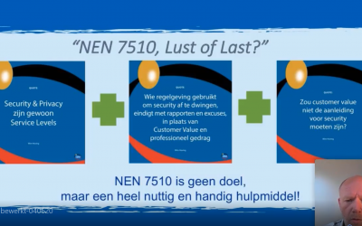 Webinar NEN7510, Lust of Last