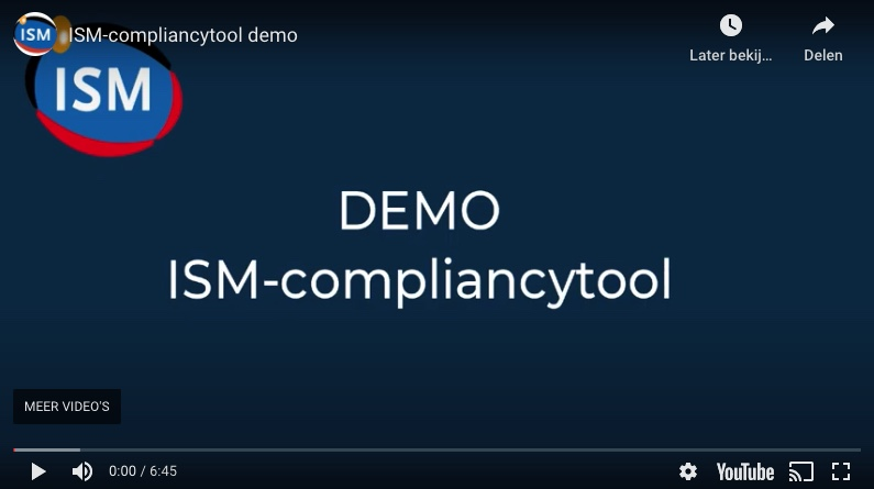ISM-compliancytool DEMO!