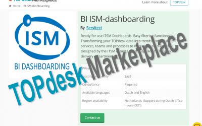 ISM Dashboards nu ook beschikbaar via TOPdesk Marketplace